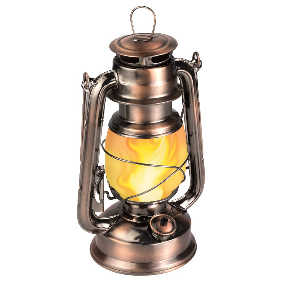 Led flickering flame lantern