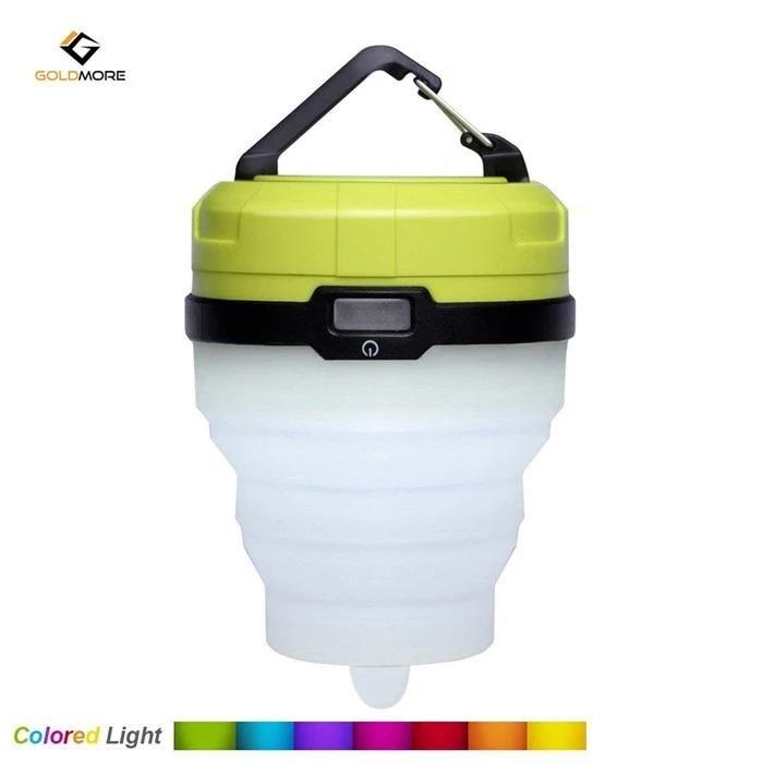 Silicion fold camping lantern