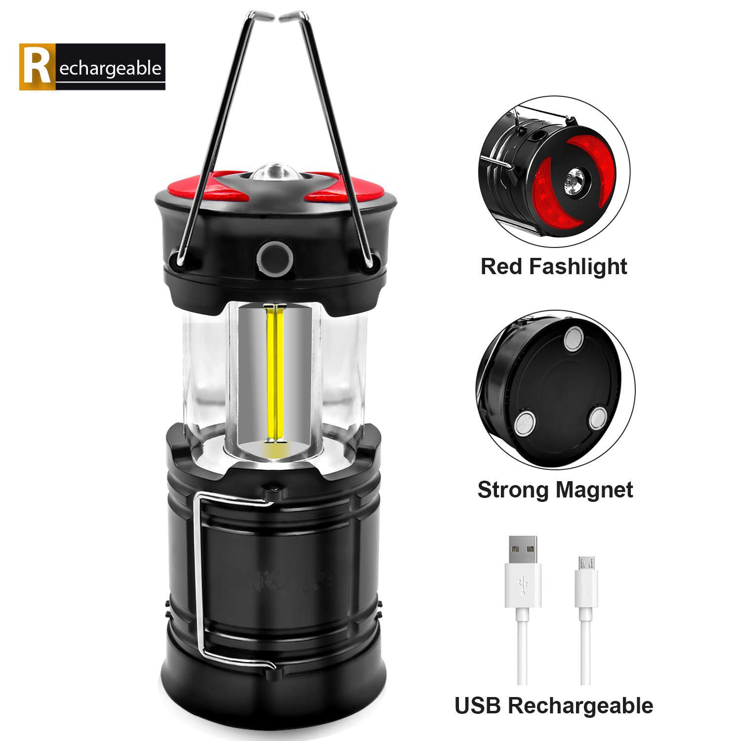 GM8071 red light USB lantern