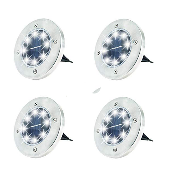 Waterproof Outdoor Ground Light Stainless Steel with 8 LED