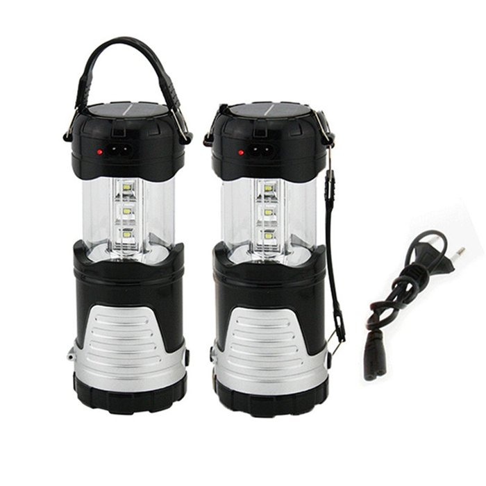 Portable LED Camping Lantern with Flashlight
