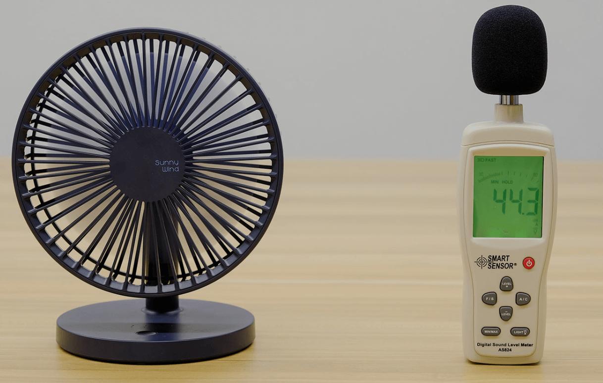 USB fan measured for dB