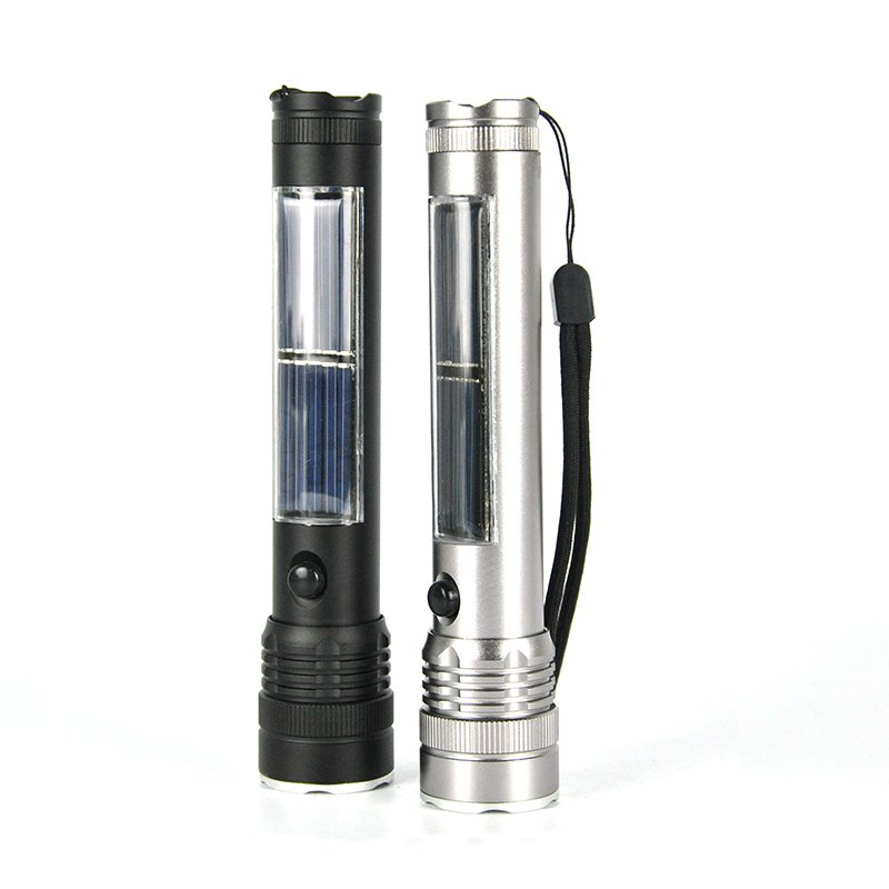 GM10024+Solar Power Flashlight USB output function Multifunction Flashlight