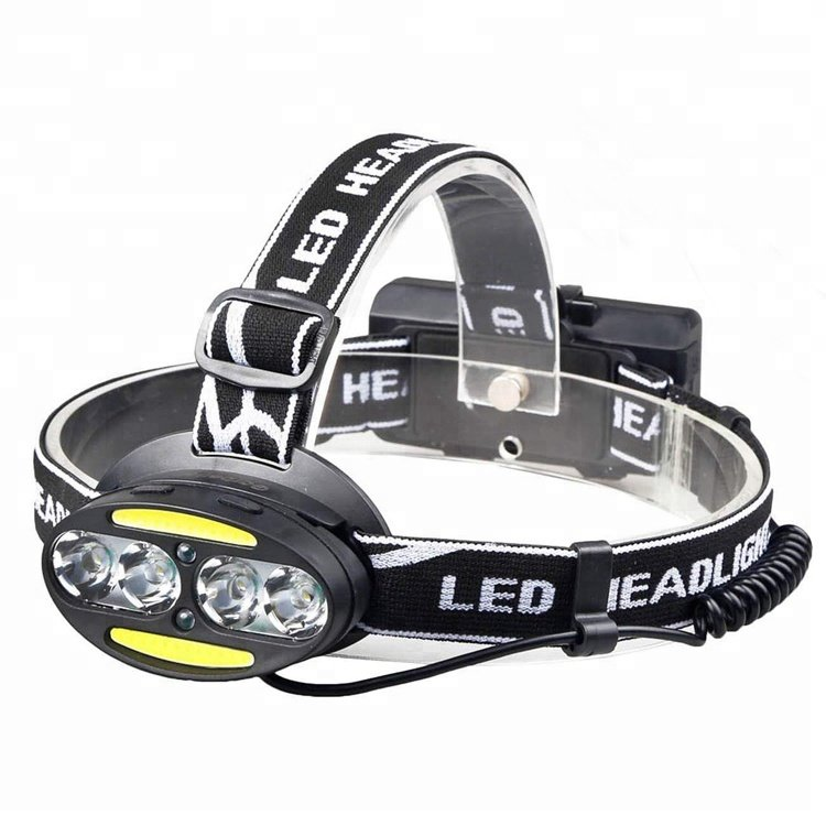 GM10410 Red-Security-Warning-Light-Rechargeable-T6-Led Waterproof Headlamp