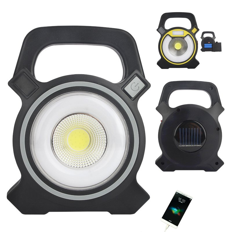GM10475 2-In-1-Cob-Abs-Portable-Solar Rechargeable Outdoor Camping Lights