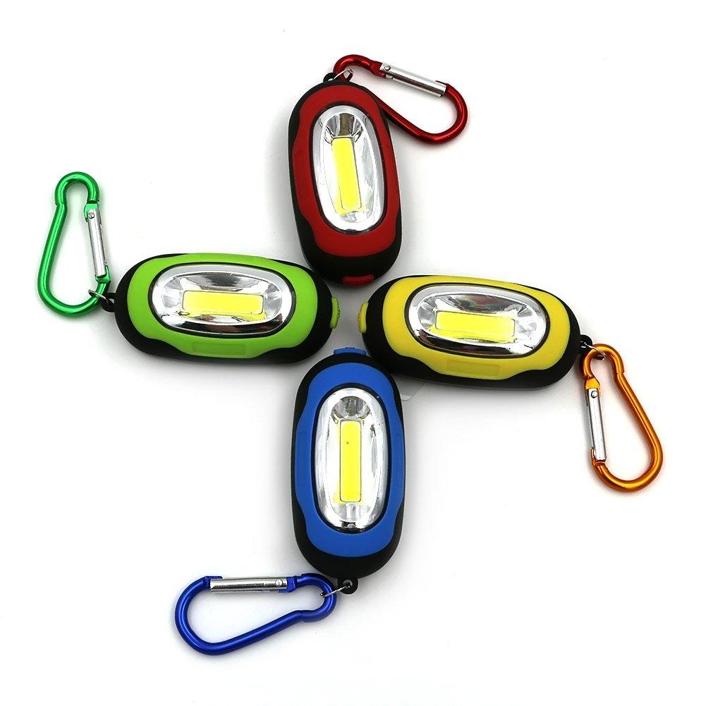GM10635+Mini Light 3-Modes Outdoor Hanging Handy COB LED Keychain Emergency Flashlight