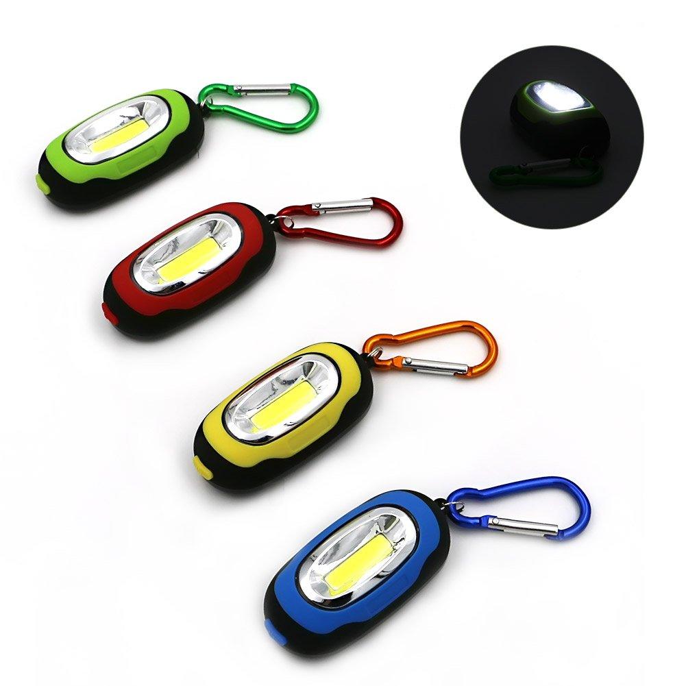 GM10635+Portable Mini Light 3-Modes Outdoor Hanging Handy COB LED Keychain Flashlight