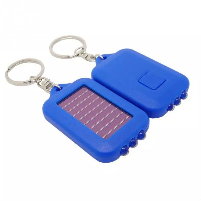 GM10637A+ Rechargeable 3 LED Lamp Flashlight Keychain Torch Ring Holder Pocket Flashlight