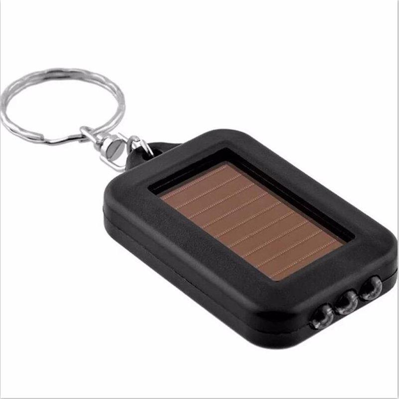 GM10637A+Solar mini 3LED keychain flashlight