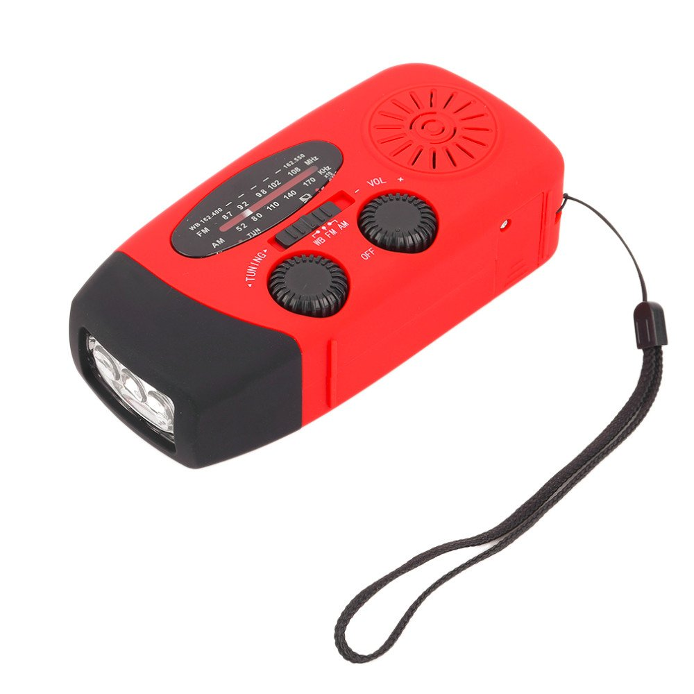 GM10770+3 in1 Emergency Charger Hand Crank Generator Wind solar light Dynamo Powered FMAM Radio Phones Chargers LED Hand Crank Flashlight