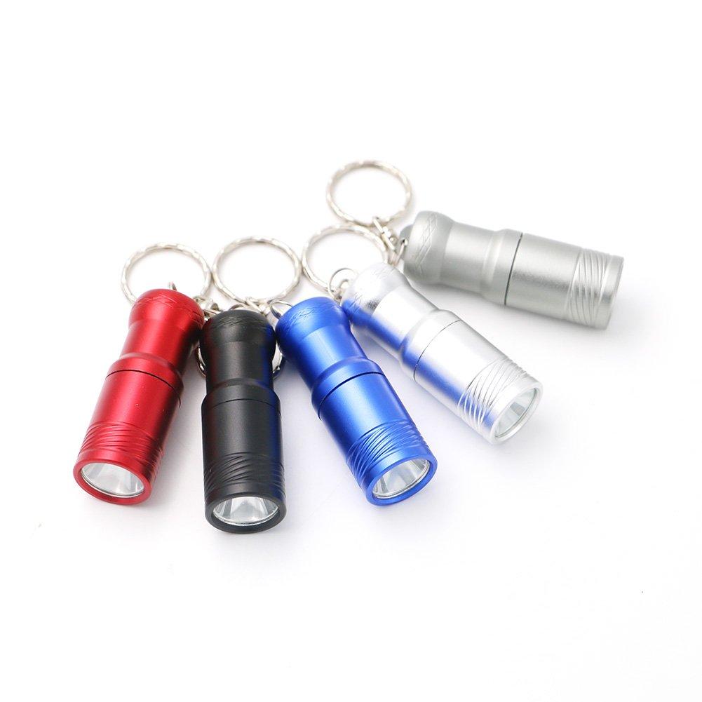 GM10799+5 Colors T6 LED 3-mode Portable LED Flashlight Lanternas Mini Keychain Flashlight