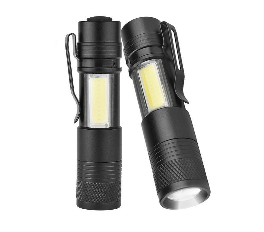 GM10813A+Aluminum Alloy 10W T6 LED COB mini flashlight