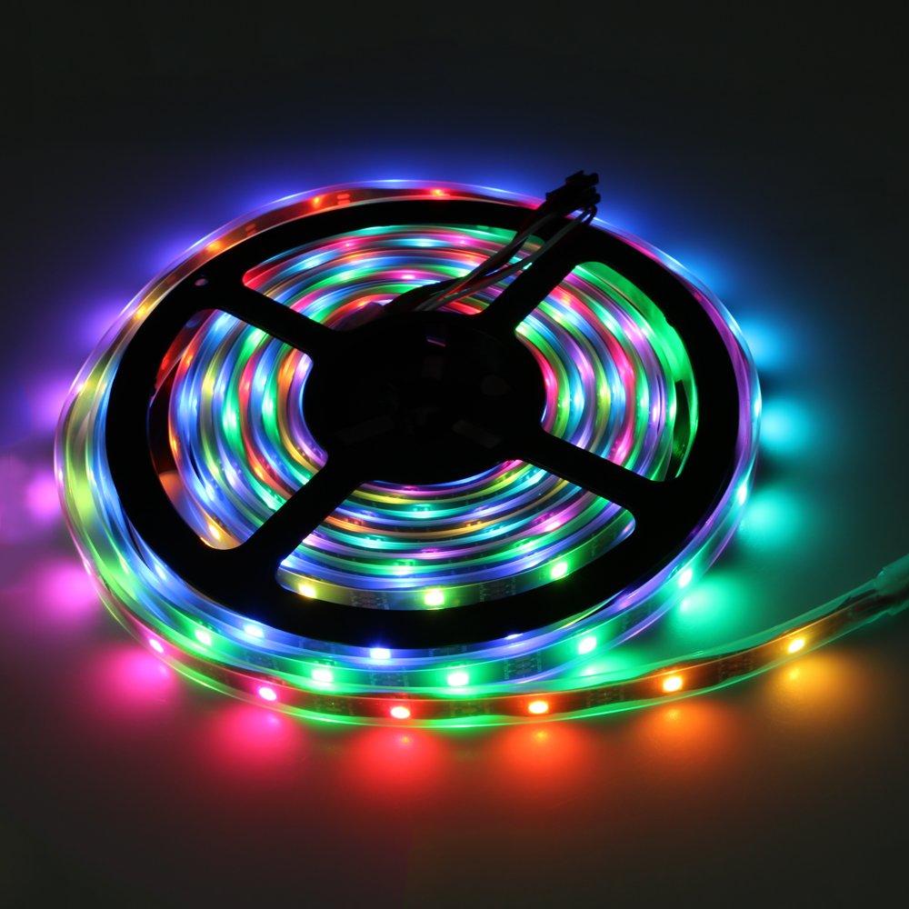 GM10880 LED-flexible-strip-DC5V-Black-PCB-ICCamping led strip lights