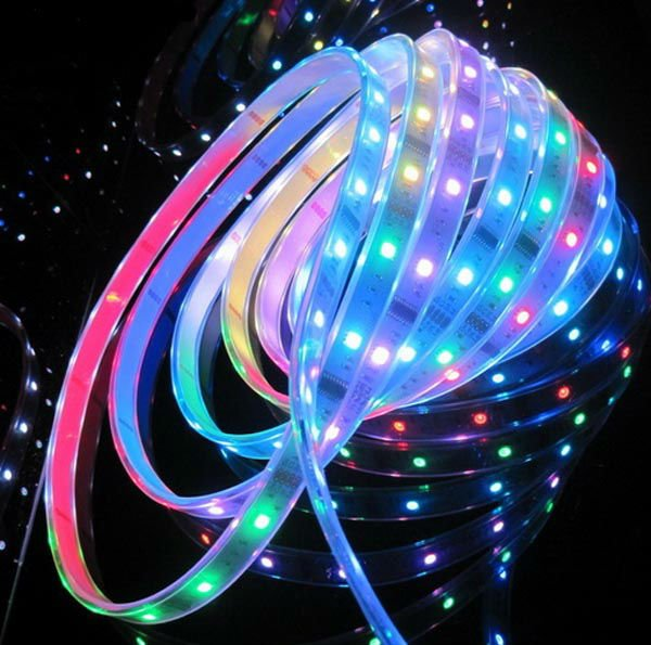 GM10881 5m-5050-ws2801-dream-color-Led-Rope Camping led strip lights
