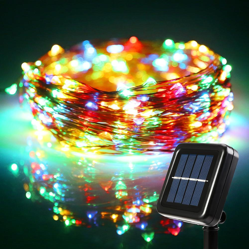 GM10886 10M-33Ft-100-Led-Outdoor-Solar-FairyCamping led strip lights