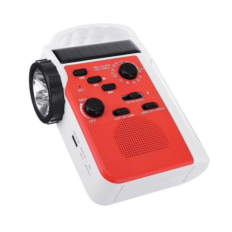 GM11071+portable Hand Crank 5LED 500mAh lithium battery operated radio dynamo emergency led flashlight