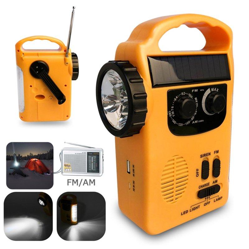 GM11072+5LED solar multifunctional radio hand crank flashlight