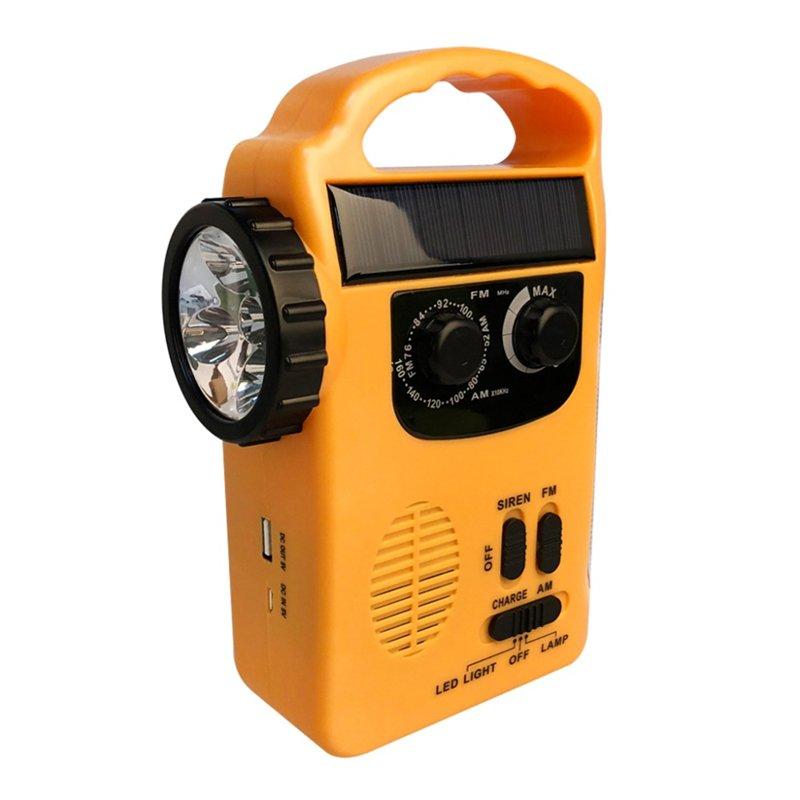 GM11072+5LED solar radio multifunctional flashlight can charge the phone