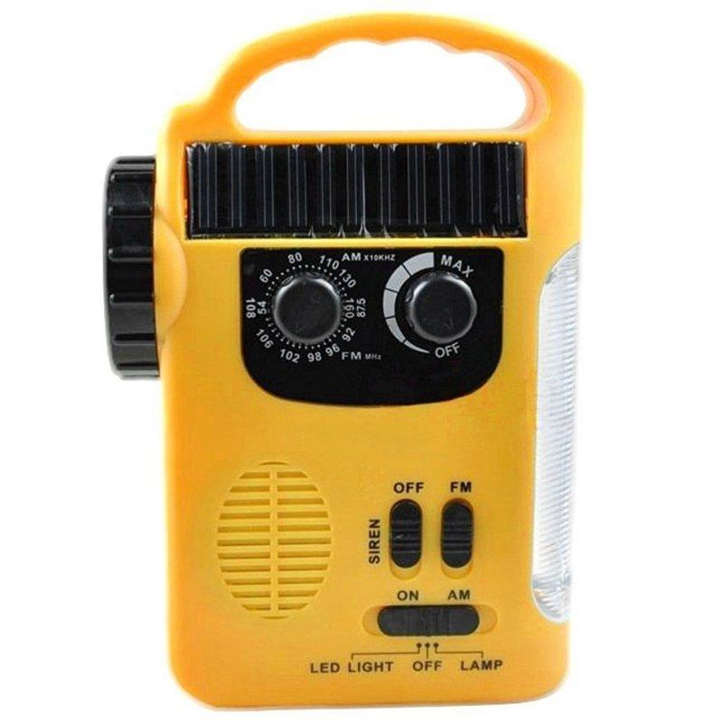 GM11072+rechargeable battery powered solar dynamo waterproof radio emergency led flashlight with FM AM