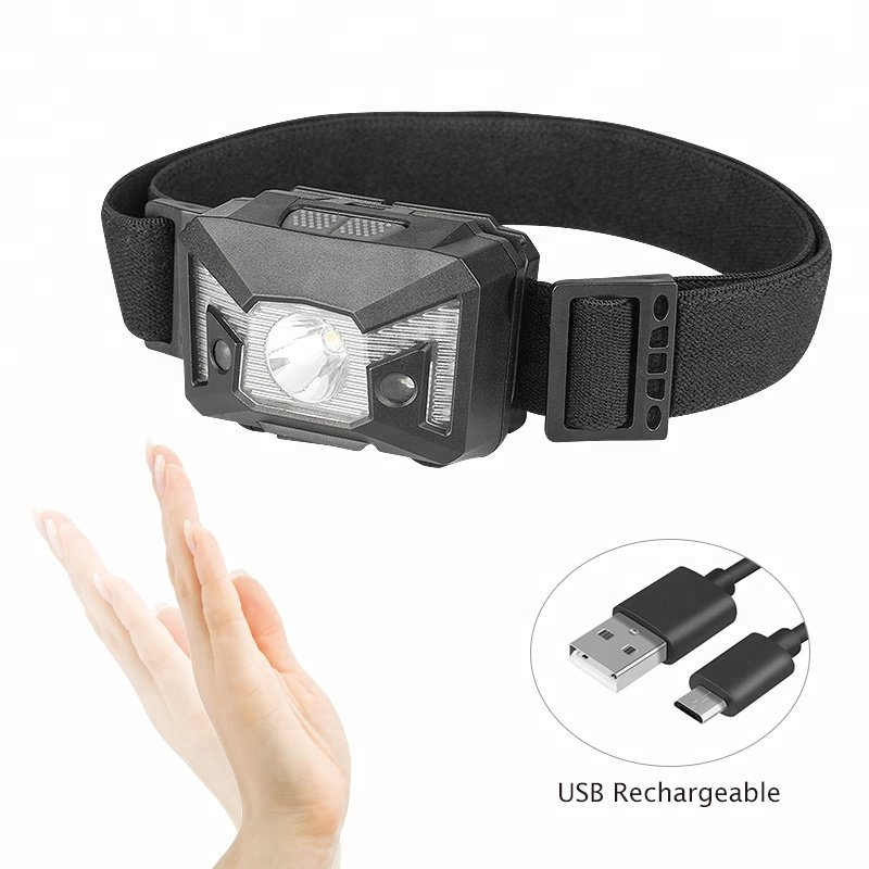 GM11073 USB-rechargeable-sensor-camping headlamp