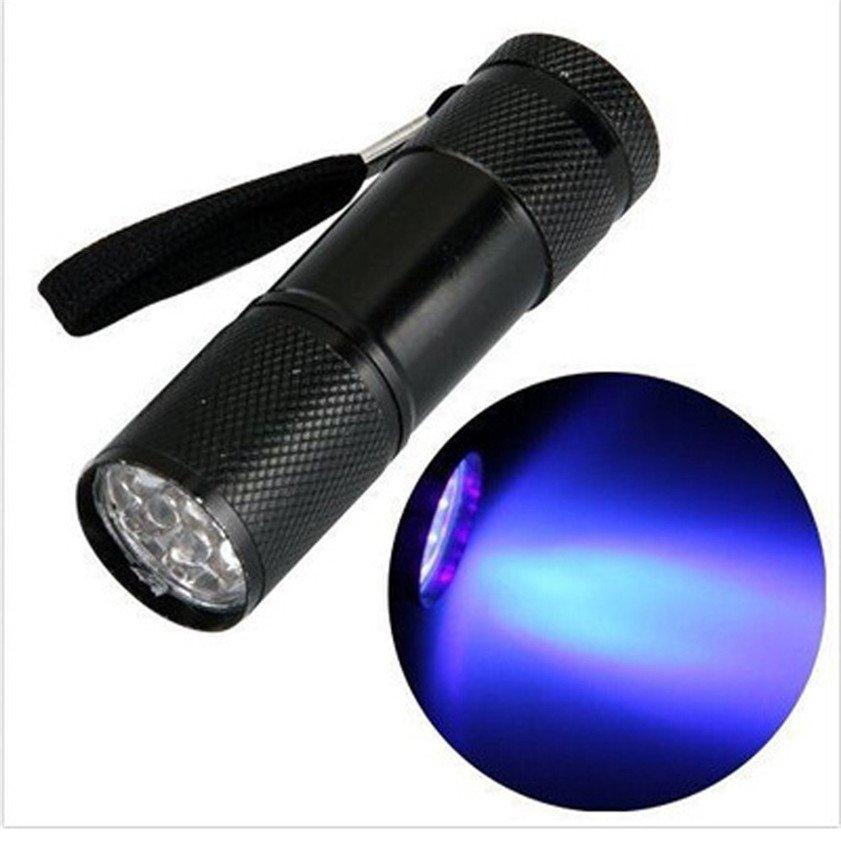 GM11120+Super Mini Aluminum 9 LED UV Flashlight