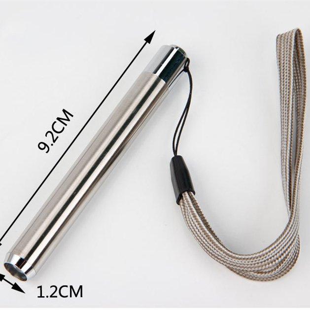 GM11124+Ultra Violet Light Stainless Steel Mini Pocket Flashlight Lamp AA Battery for Marker Checker Detection UV Flashlight
