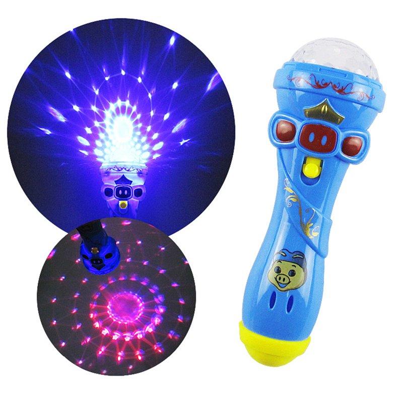 GM11139+Children's Emergency Night Light Kids Flash Luminous Microphone Party Funny Toy Gift Kids Flashlight