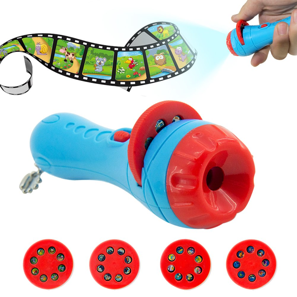 GM11142+Story Flashlight Slide Projector Toy Projector Slide Baby Sleeping Story Early Education Toy Kids Flashlight