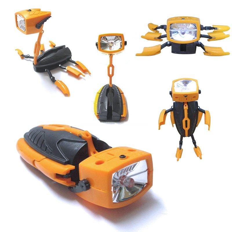 GM11146+robot electric torch Novel Creative Toys For kids Boy Girl Multi Function Kids Flashlight