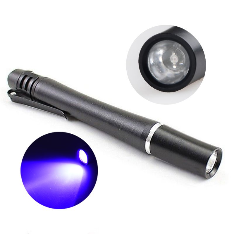 GM11156+Mini Pocket Ultraviolet Pen Glue Curing Invisible Ink Detector 395NM 365NM 380NM 1 LED uv Pen Flashlight
