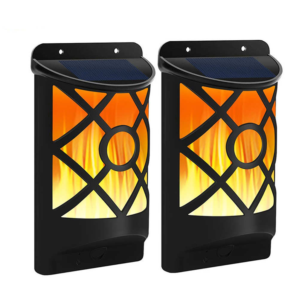 GM11181 wall mounted flickering solar flame outdoor garden lights