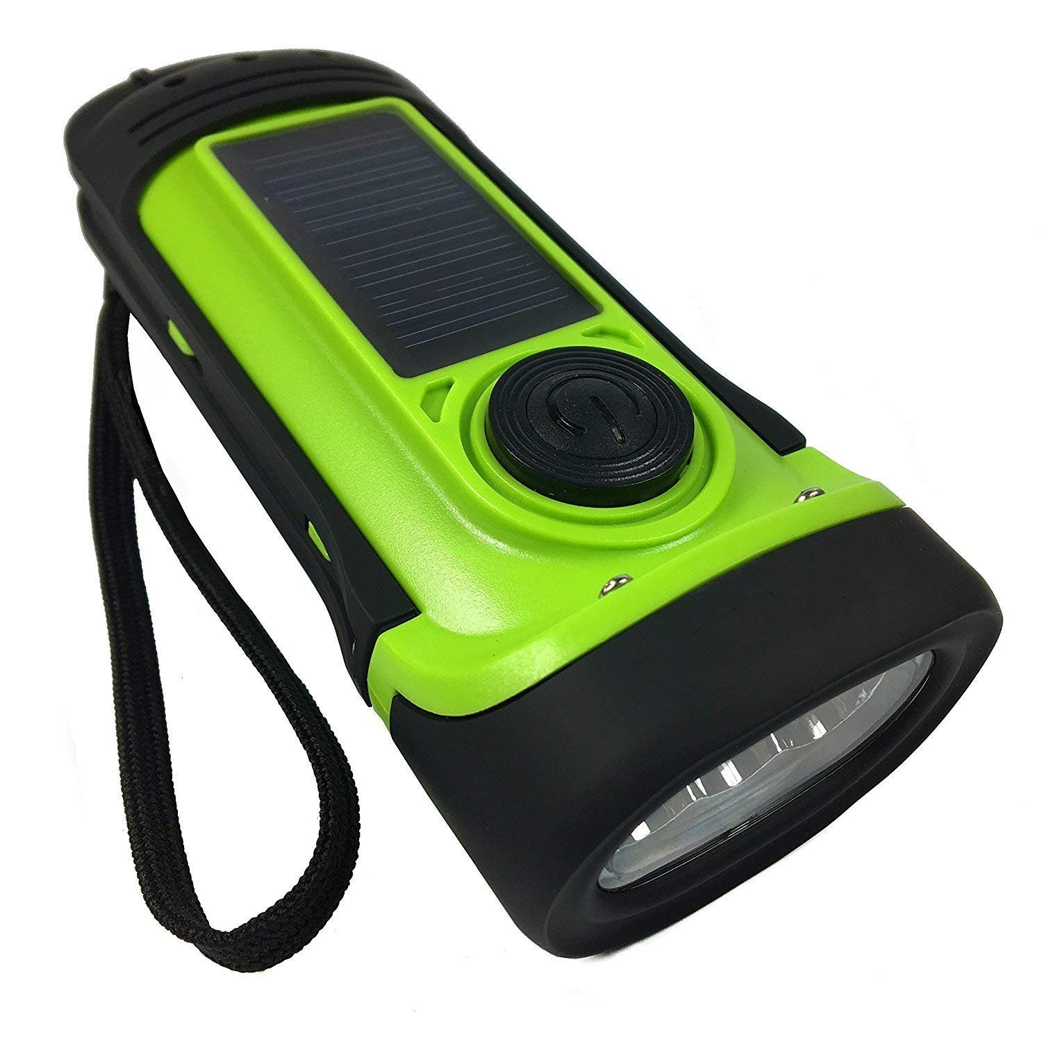 GM11197+3 LED Solar Rechargeable Waterproof LED Torch Wind Wind Up Flashlight