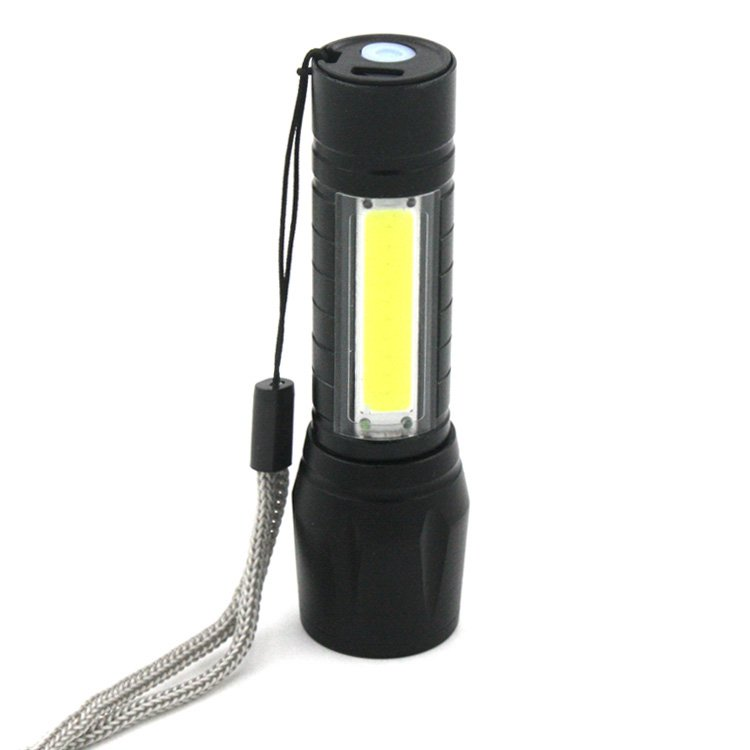 GM11341+COB 4 Modes Flashlight Torches Camping USB Rechargeable Flashlight