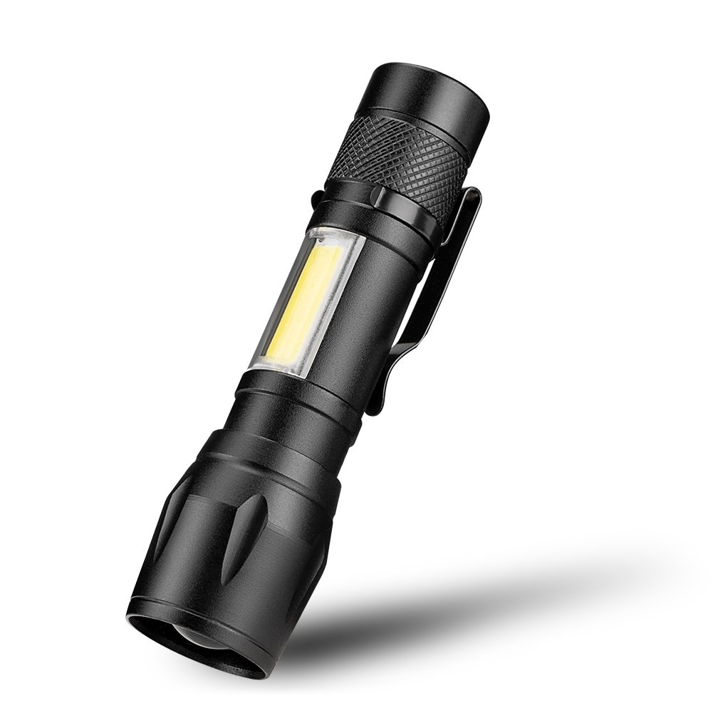 GM11341+COB LED Flashlight Super Bright Waterproof Handheld Flashlights