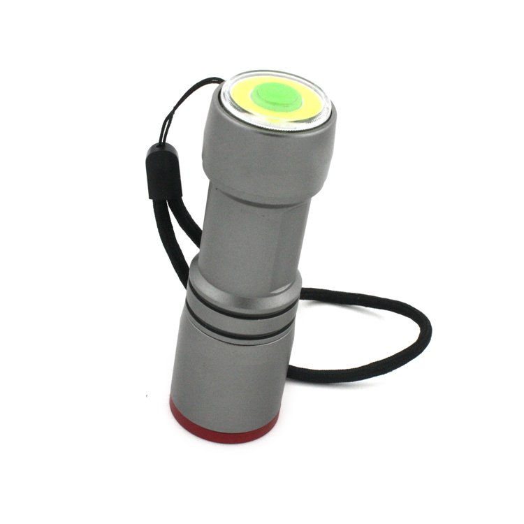 GM11372+COB Small Powerful Battery Powered Tactical Flashlight With Red LED Bulbs