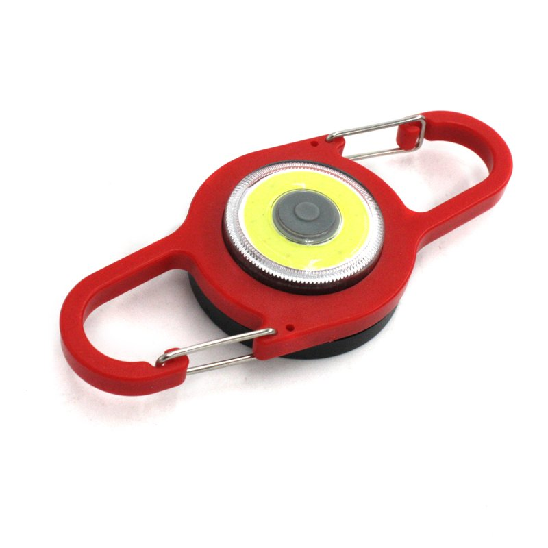 GM11439+COB LED Flashlight 2-Mode Mini Lamp Key Chain Ring ABS Pocket Flashlight