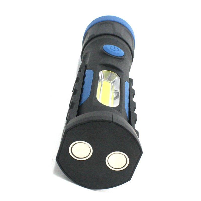 GM11442+T6 bead 300 lumen 3w COB magnetic flashlight