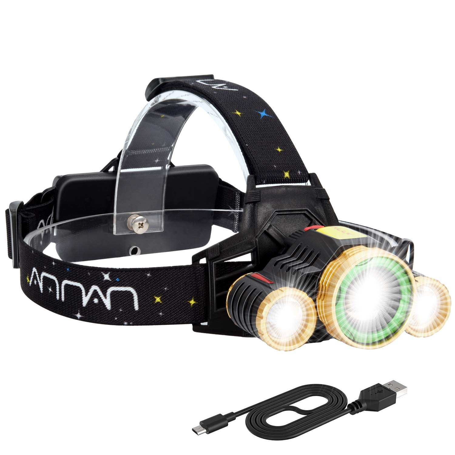 GM12546 IPX4 Waterproof 1000 Lumens Headlamp