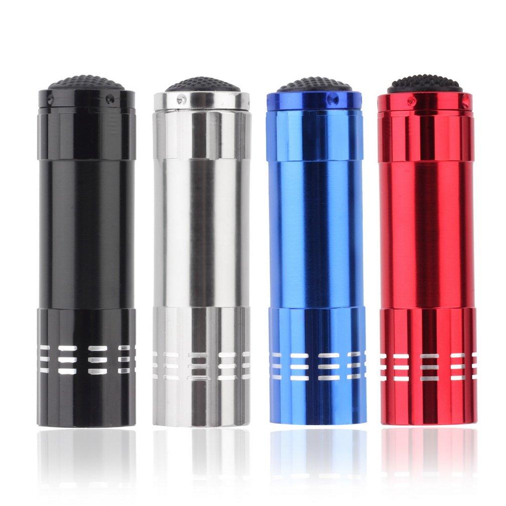 GM8021C+9 LED t Lamp Mini Aluminum UV Ultra Violet Penlight Emerency Flashlight
