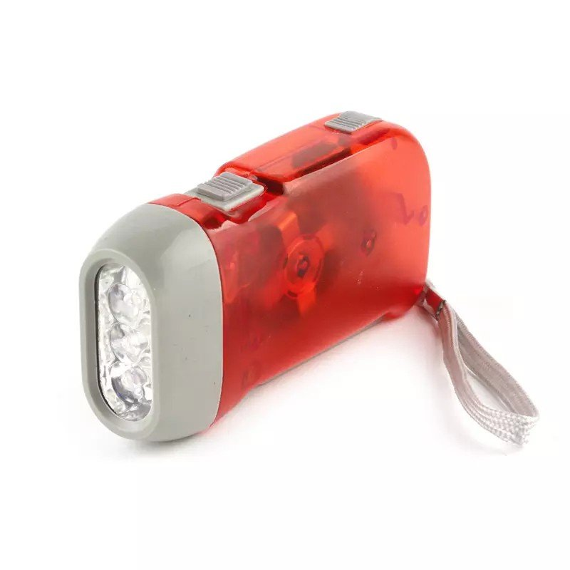 GM8202+3 leds dynamo flashlight,hand wind up crank dynamo pocket flashlight
