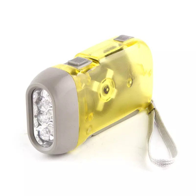 GM8202+Small Led Lights ABS 3 led crank flashlights,power hand crank generator hand dynamo mini flashlight