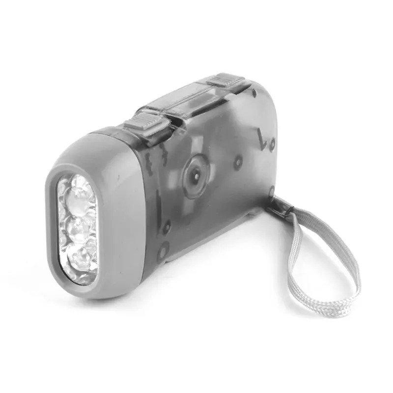 GM8202+hand crank dynamo flashlight,led dynamo torch wind up flashlight