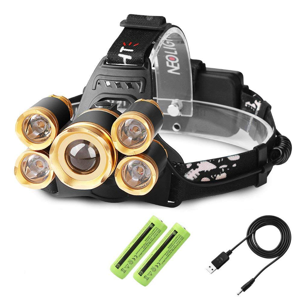 Waterproof GM25774 Adjustable Focus 4 Modes 1000 Lumen Headlamp