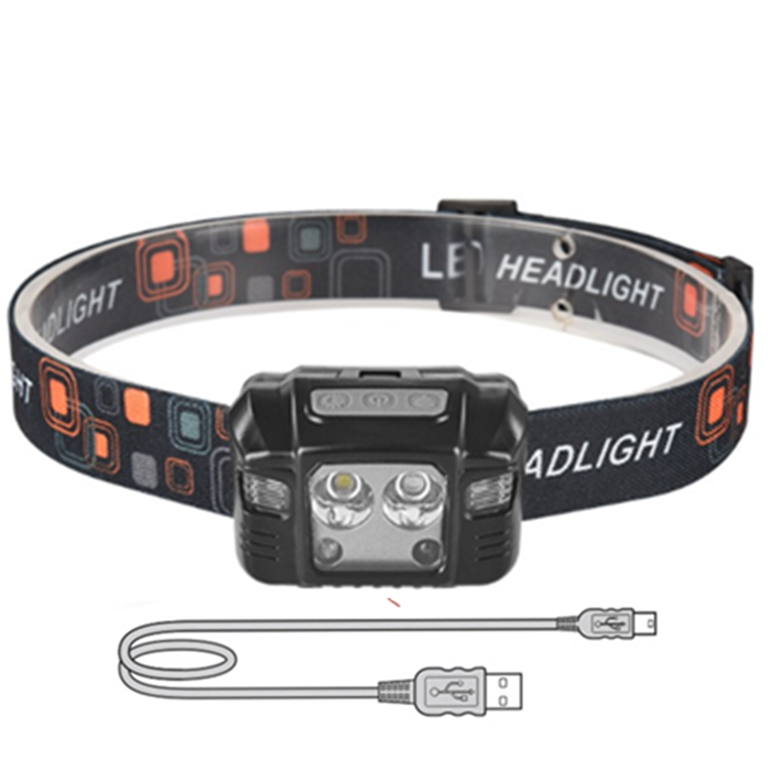 Waterproof T6 USB Rechargeable LED headlamp