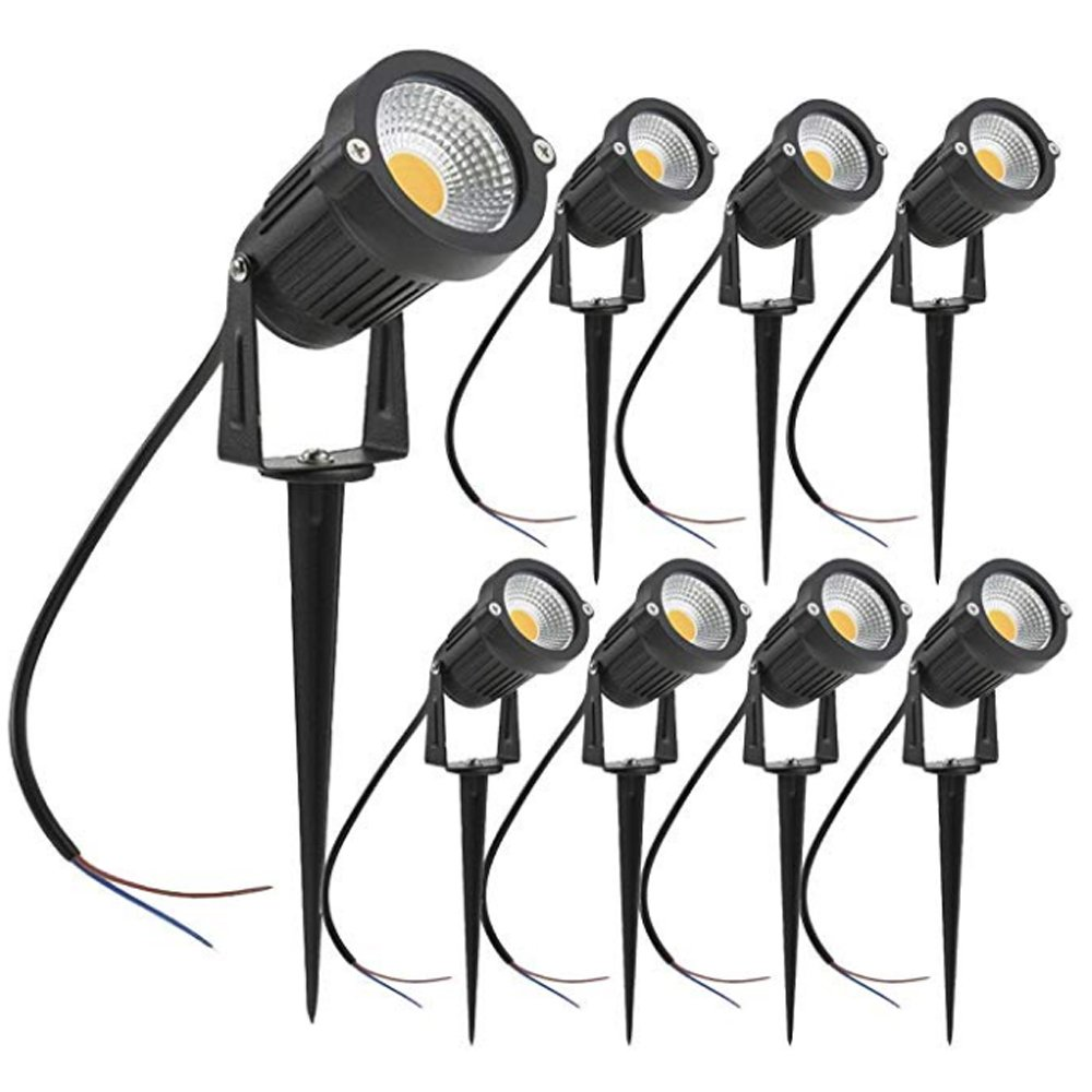 gm11283 Ip65 Metal Structure DC12V AC110V 3W 5W 7W LED Waterproof Warm White outdoor garden lights