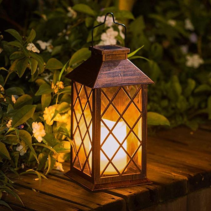 GM006 portable outdoor garden decoration solar flame light