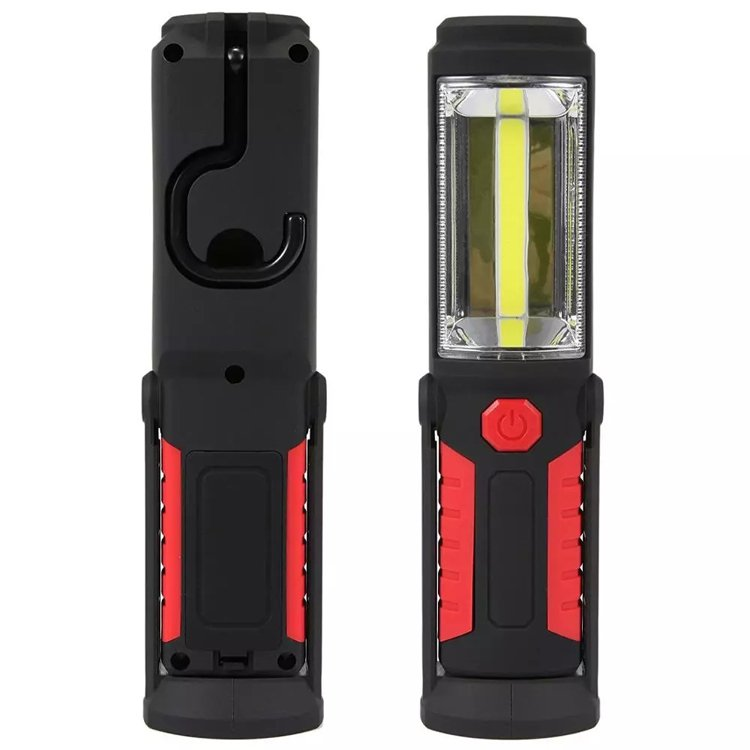 GM10005 3AA battery rotation Built-in Magnets handhold 3W COB portable work light