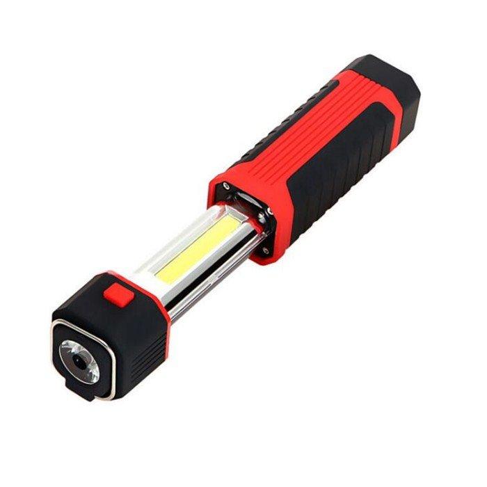 GM10367 3W COB+1led Portable Working Lamp Inspection Telescopic COB battery work light