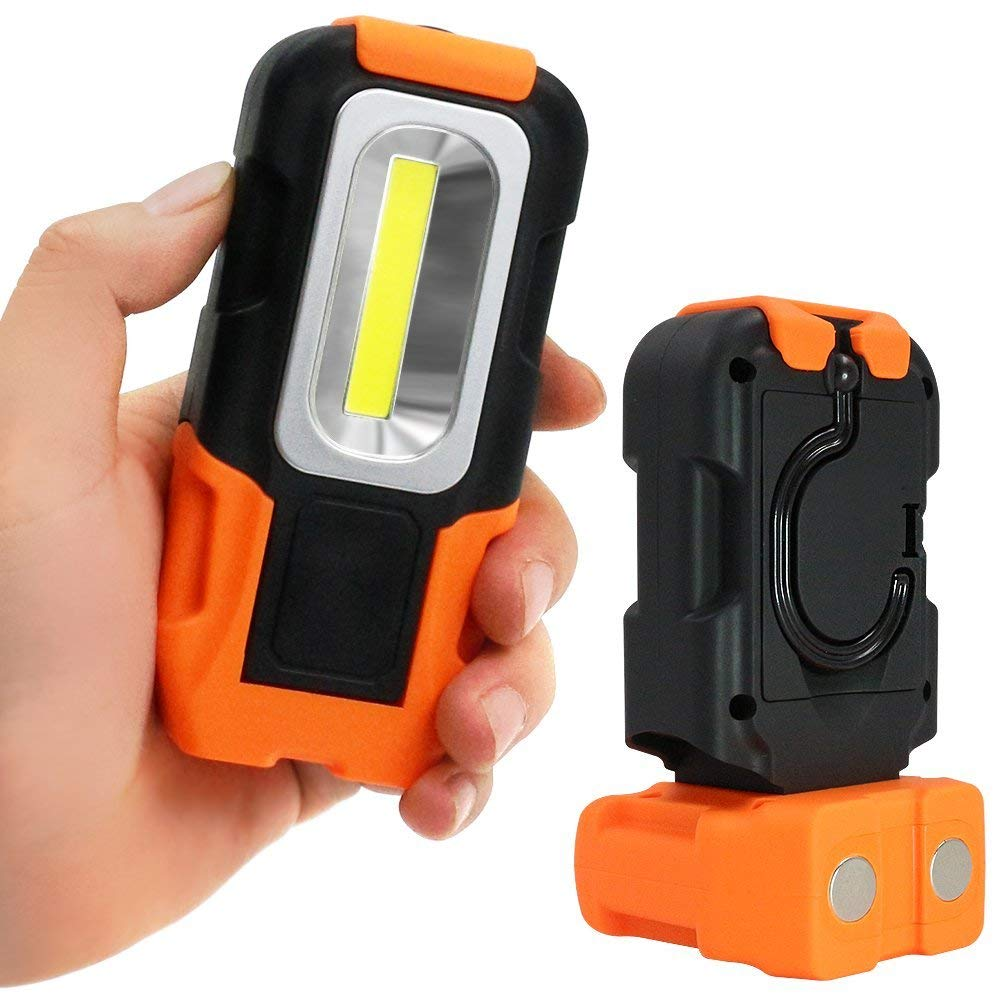 GM10447 portable magnet hook inspection cob battery work light