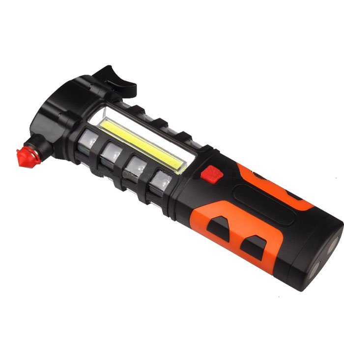 GM10500 Safety hammer and magnet multi function COB magnetic work light
